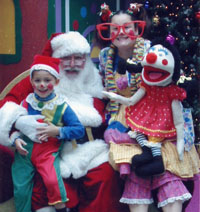 Merriloons with Santa